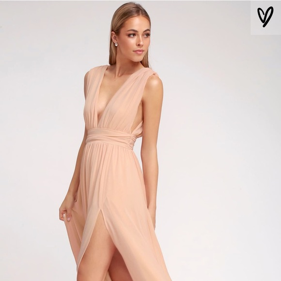 Lulu's Dresses & Skirts - Lulus Heavenly Hues Blush Maxi Dress